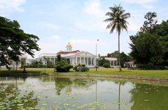 Palacio presidencial en Bogor, Indonesia fotos de archivo libres de regalías