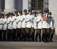 Palacio presidencial en Santiago - Chile Foto de archivo