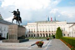Palacio presidencial en Varsovia Imágenes de archivo libres de regalías