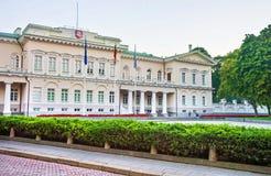 Palacio presidencial en Vilna Báltico foto de archivo