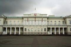 Palacio presidencial en Vilnius (Lituania) Foto de archivo