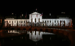 Palacio presidencial (palacio de Grassalkovich) Fotografía de archivo libre de regalías