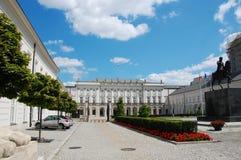 Palacio presidencial polaco Imagenes de archivo