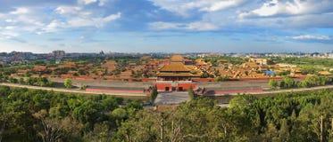Palacio prohibido Pekín Panoram de la ciudad de China fotografía de archivo