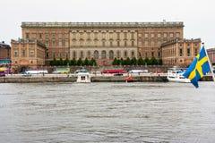 Palacio real de Estocolmo Imágenes de archivo libres de regalías