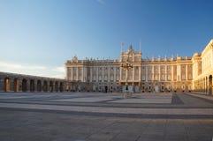 Palacio real de Madrid Fotografía de archivo libre de regalías