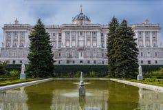 Palacio real de Madrid, España Imagen de archivo