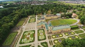 Palacio real de Wilanow en Varsovia almacen de video