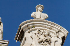 Palacio Real. A detail on the roof of the Palacio Real in Madrid Royalty Free Stock Photography