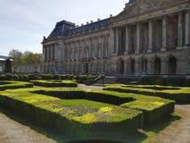 Palacio real en Bruselas imagen de archivo