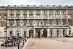 Palacio real en Estocolmo Imagen de archivo libre de regalías