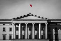 Palacio real en Oslo Imágenes de archivo libres de regalías