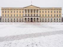 Palacio real en Oslo, Noruega Fotos de archivo libres de regalías