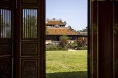 Palacio real en tonalidad, Vietnam foto de archivo