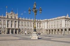 Palacio real in Madrid Stockbilder