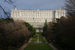 Palacio Real in Madrid Royalty Free Stock Images