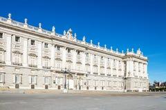 Palacio Real Madrid. Arkivbilder