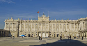 Palacio Real in Madrid - Spain. Royal Palace in the spanish capital city of Madrid (Spain Royalty Free Stock Photo