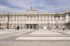 Palacio real madrid spain stock image