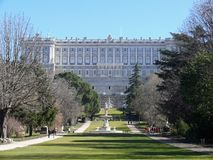 Palacio Real in Madrid, Spain Royalty Free Stock Photos