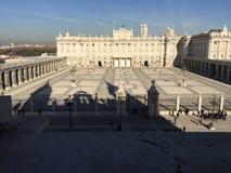Palacio Real, Madrid, Spain. View of the royal palace from the Catedral de Santa María la Real de la Almudena. Picture taken in 2015 Stock Image