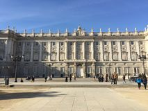 Palacio Real, Madrid, Spain. View of the Royal Palace, from the Teatro Real or Royal Theater. Picture taken in 2015 Royalty Free Stock Images