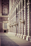 Palacio real - palácio real espanhol em Madrid Imagens de Stock Royalty Free