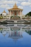 Palacio real, pluma de Phnom, Camboya Foto de archivo libre de regalías