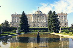 Palacio Real or Royal palace Royalty Free Stock Photos