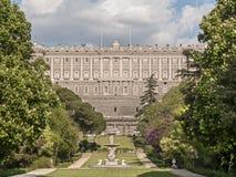 Palacio Real y Jardines del Moro Stock Photo