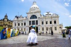 Palacio Rio Branco Palace in Pelourinho Salvador Brazil royalty-vrije stock afbeeldingen