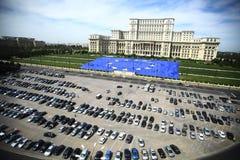 Palacio rumano del parlamento Foto de archivo libre de regalías