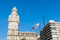 Palacio Salvo in the center of the city of Montevideo, Uruguay. Palacio Salvo in the center of the city of Montevideo, Uruguay Stock Photo