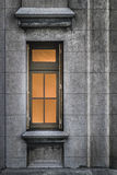 Palacio Salvo Detail View. Vertical format photo detail of window and concrete wall of the most famous eclectic art deco style building of Uruguay, the Palacio Stock Photography