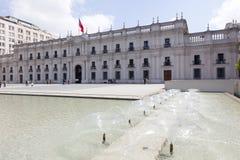 Palacio Santiago de Chile de Moneda del La Imágenes de archivo libres de regalías