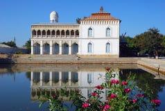 Palacio Sitorai-Khosa - la residencia del emir de Bukhara Foto de archivo