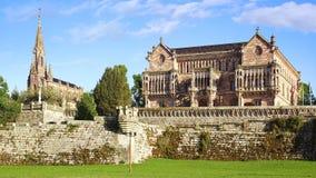 Palacio Sobrellano. The Neo Gothic Palacio de Sobrellano in  Comillas, Spain Royalty Free Stock Images