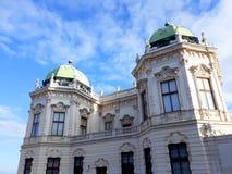 Palacio superior del belvedere en Viena Imagenes de archivo
