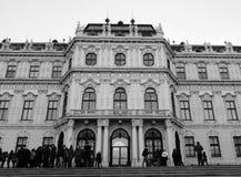 Palacio superior del belvedere en Viena Fotos de archivo
