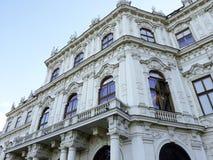 Palacio superior del belvedere en Viena Foto de archivo libre de regalías