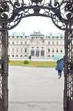 Palacio superior del belvedere en Viena imágenes de archivo libres de regalías