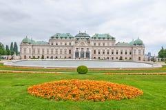 Palacio superior del belvedere en Viena imagen de archivo libre de regalías