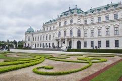 Palacio superior del belvedere en Viena fotografía de archivo