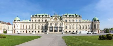 Palacio superior del belvedere, Viena, Austria Imagen de archivo