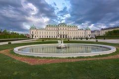 Palacio superior del belvedere, Viena, Austria Imagenes de archivo