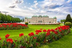 Palacio superior del belvedere, Viena, Austria fotografía de archivo