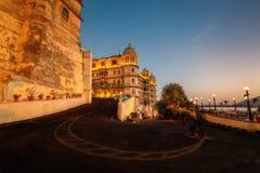 Palacio Udaipur de la ciudad imagenes de archivo
