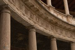 palacio v alhambra carlos стоковое фото rf