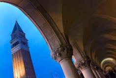 Palacio veneciano del dux en el amanecer Fotos de archivo