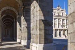 Palacio verdadero en Madrid Fotos de archivo libres de regalías